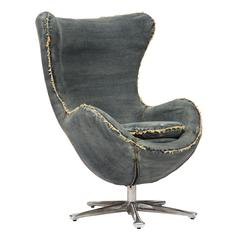 ZuoMod Winchester Armchair Blue Denim