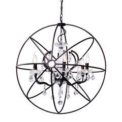 ZuoMod Diamond Ceiling Lamp Rust