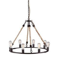 ZuoMod Galena Ceiling Lamp Twine
