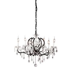 ZuoMod Gypsum Ceiling Lamp Rust Black & Crystal