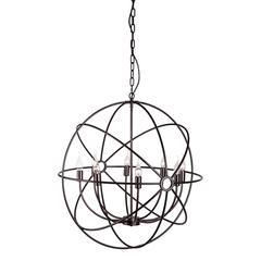 ZuoMod Helvine Ceiling Lamp Rust