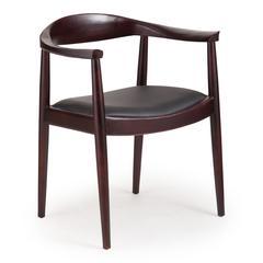 ZuoMod Greenwich Chair Dark Walnut & Black Cushion, Set of 2