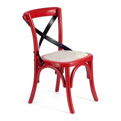 ZuoMod Baby Larkin Chair Red & Straw Cushion, Set of 2