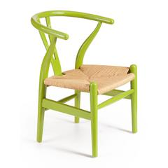 ZuoMod Baby Grant Chair Green & Natural Wicker, Set of 2