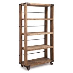 ZuoMod Newcomb Wide 4 Level Shelf Distressed Natural