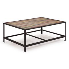 ZuoMod Sawyer Coffee Table Multicolor Distressed Natural