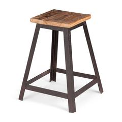 ZuoMod Leland Stool Distressed Natural