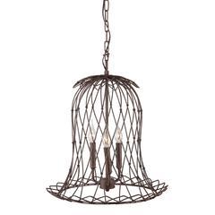 ZuoMod Chert Ceiling Lamp Rust