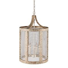 ZuoMod Basalt Ceiling Lamp Beach Drift & White Mesh