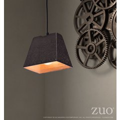 Auckland Ceiling Lamp Rustic Black