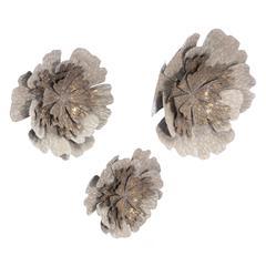 Set of 3 Antique Flowers