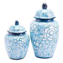 Flower Temple Jar Small