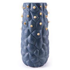 Blue Cactus Vase Large