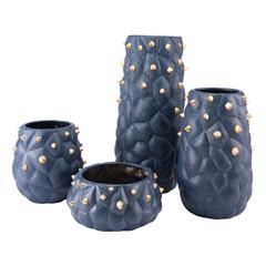 Blue Cactus Vase Small