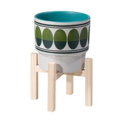 Retro Sm Planter Green & Teal