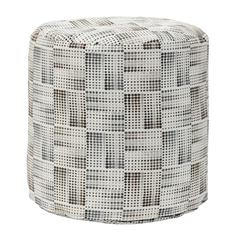 American Furniture Classics Matrix Charcoal Tapestry Pouf Ottoman