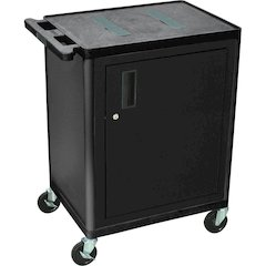 A/V cart with a locking cabinet, Back