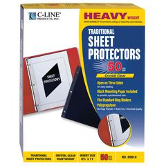 Traditional Polypropylene Sheet Protector, Heavyweight, 11 x 8 1/2, 50/BX (Set of 2 BX)