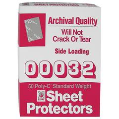 C-Line Traditional Polypropylene Sheet Protector, Standard Weight, 11 x 8 1/2, 50/BX (Set of 3 BX)