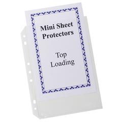 Mini Size Top Loading Poly Sheet Protectors, 5 1/2 x 8 1/2, Heavyweight, Clear, 20/PK (Set of 4 PK)