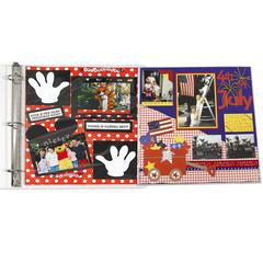 Memory Book Panoramic Fold-Out Scrapbook Page Protector, Center Loading, Clear, 12 x 12, 6/PK (Set of 3 PK)