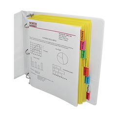 8-Tab Paper Index Dividers, Assorted Color Tabs, 8/PK (Set of 18 PK)