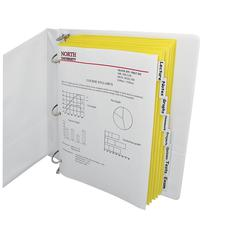 C-Line 8-Tab Paper Index Dividers, Clear Tabs, 8/PK (Set of 18 PK)