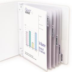 C-Line Polypropylene Sheet Protector with Index Tabs, Clear Tabs, 11 x 8 1/2, 5/ST (Set of 6 ST)