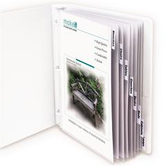 Polypropylene Sheet Protector with Index Tabs, Clear Tabs, 11 x 8 1/2, 8/ST (Set of 3 ST)