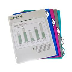 C-Line 5-Tab Poly Binder Index Dividers, Assorted, 5/ST (Set of 12 ST)