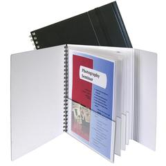 8-Pocket Portfolio with Security Flap, 1 Notebook (Set of 2 EA)