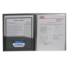 C-Line 8-Pocket Spiral-Bound Poly Portfolio, Smoke, 1/EA (Set of 6 EA)