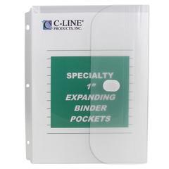 Biodegradable Binder Pocket, Clear, 10/PK