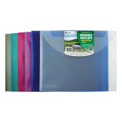 Biodegradable Reusable Poly Envelope, Side Load, 1 Envelope (Color May Vary) (Set of 18 EA)