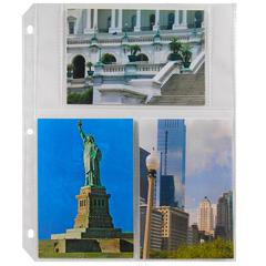 4 x 6 Multiview Photo Holders, Clear, 11 1/32 x 9 3/16, 50/BX (Set of 2 BX)