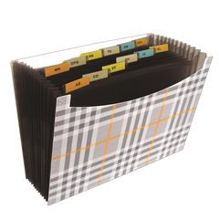 13-Pocket Expanding File, Plaid, 1/EA (Set of 3 EA)
