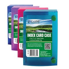 C-Line Biodegradable 3 x 5 Index Card Case, 1 Case (Color May Vary) (Set of 24 EA)