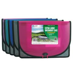 C-Line Biodegradable Extra Large Document Case, 1 Case (Color May Vary) (Set of 6 EA)