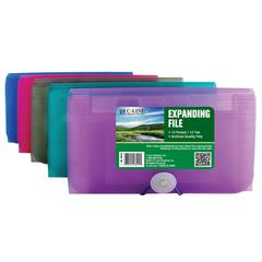 Biodegradable 13-Pocket Coupon Size Expanding File, 1 File (Color May Vary) (Set of 6 EA)