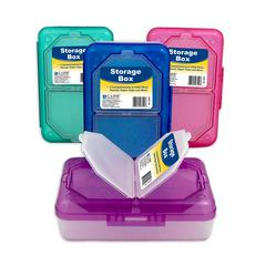 Storage Box, Assorted, 1 Box (Color May Vary) (Set of 4 EA)