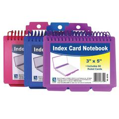 Spiral Bound Index Card Notebook with Tabs, 1 Notebook (Color May Vary) (Set of 8 EA)