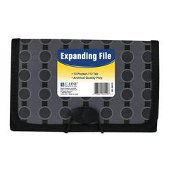 13-Pocket Coupon Size Expanding File, Fashion Circle Series, 1/EA (Set of 6 EA)