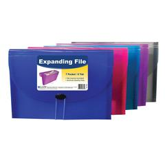 7-Pocket Letter Size Expanding File, 1 File (Color May Vary) (Set of 4 EA)