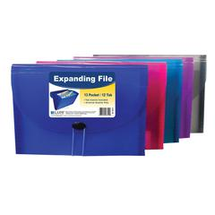 13-Pocket Letter Size Expanding File, 1 File (Color May Vary) (Set of 4 EA)