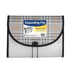 13-Pocket Letter Size Expanding File, Plaid, 1/EA (Set of 3 EA)