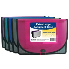 Extra Large Document Case, Stitched, 1 Case (Color May Vary) (Set of 5 EA)