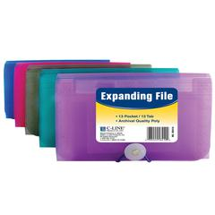 C-Line 13-Pocket Coupon Size Expanding File, 1 File (Color May Vary) (Set of 8 EA)