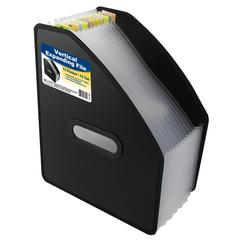 13-Pocket Vertical Expanding File, Letter Size, Black, 1/EA (Set of 2 EA)