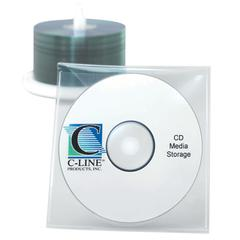 C-Line Individual CD/DVD Holders, Clear, 10/PK (Set of 5 PK)