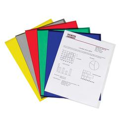 Project Folders, Assorted, Reduced Glare, 11 x 8 1/2, 25/BX (Set of 2 BX)